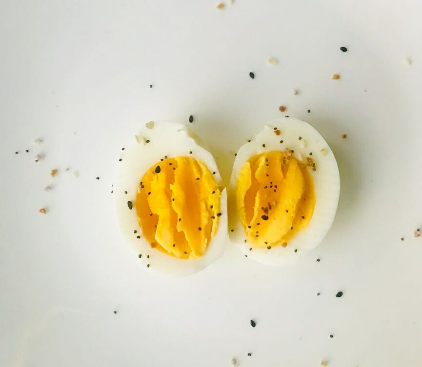 Hard boiled eggs healthy snack for drivers