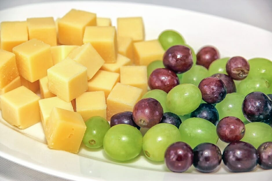 Cheese cubes healthy snack