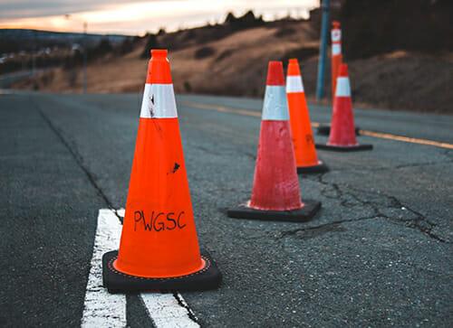 road hazard cone breakdown