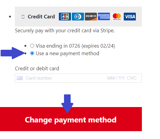 change payment